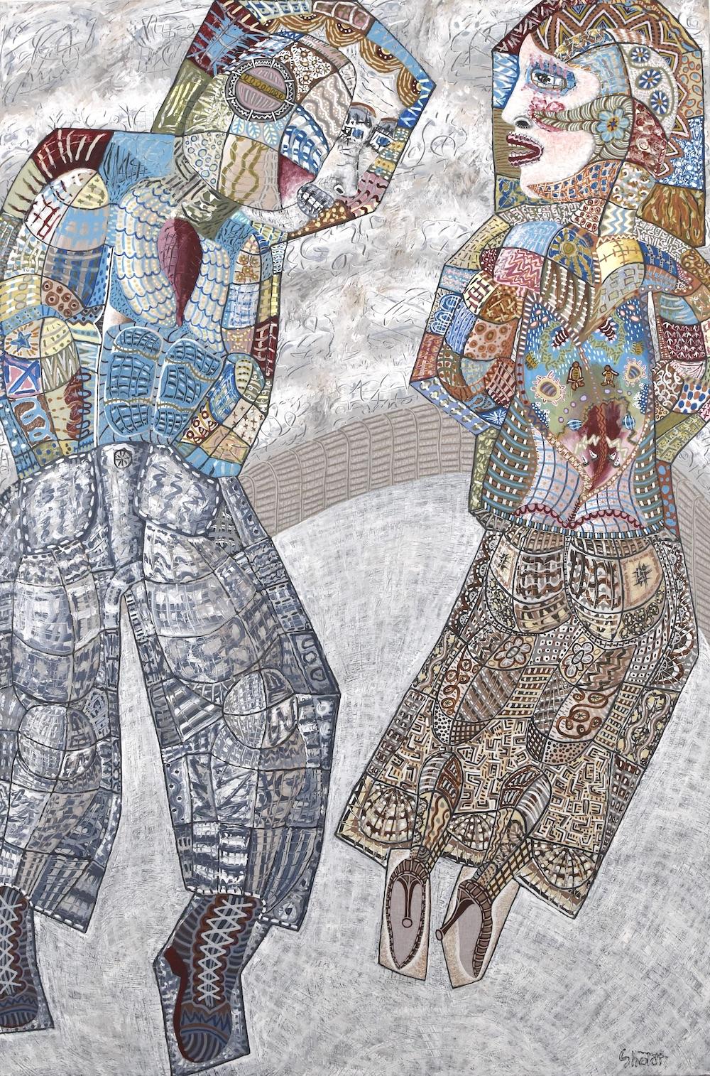 "Brian Sholdt   Sugar Coated   Acrylic on Canvas   24""x 36""   2021"