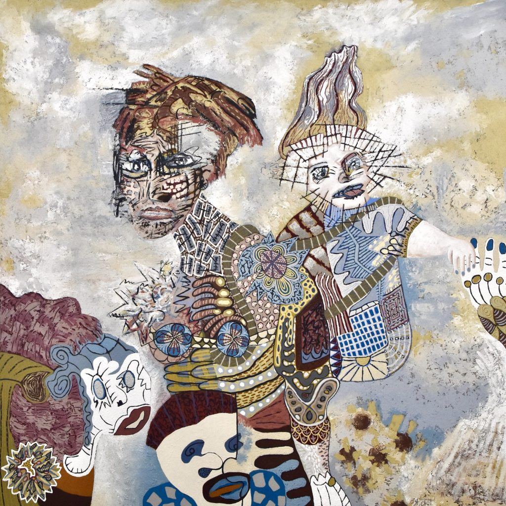 "Brian Sholdt | Glimmer | Acrylic on Canvas | 48""x 48"" | 2021"